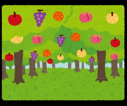 色々な果樹を植える必要がある